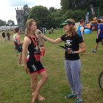 Post race interview at Cholmondeley Castle